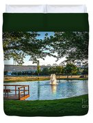 Umatilla Fountain Pond Duvet Cover by Robert Bales