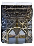 Under The George Washington Bridge I Duvet Cover by Susan Candelario