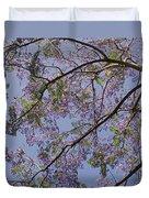Under The Jacaranda Tree Duvet Cover by Rona Black