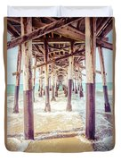 Under The Pier In Southern California Picture Duvet Cover by Paul Velgos