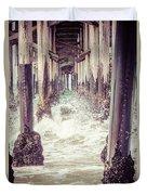 Under The Pier Vintage California Picture Duvet Cover by Paul Velgos