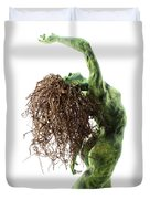 Unfurled Back View Detail Duvet Cover by Adam Long