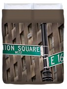 Union Square West I Duvet Cover by Susan Candelario