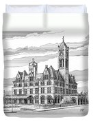 Union Station In Nashville Tn Duvet Cover by Janet King