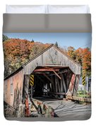 Union Village Covered Bridge Thetford Vermont Duvet Cover by Edward Fielding