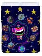 United Planets of Eurotrazz Duvet Cover by Robert  SORENSEN