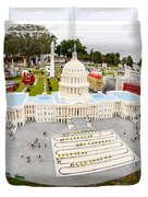 United States Capital Building at Legoland Duvet Cover by Edward Fielding
