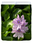 Unmanageable Beauty The Water Hyacinth Duvet Cover by Byron Varvarigos