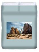 Ursa Beach Rocks Duvet Cover by Carlos Caetano