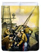 US Marines Duvet Cover by Leon Alaric Shafer