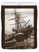 Uss Constitution Duvet Cover by Catherine Reusch  Daley