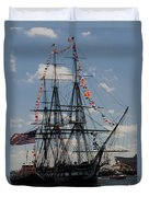 Uss Constitution Duvet Cover by Mike Ste Marie