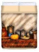 Utensils - Kitchen Still Life Duvet Cover by Mike Savad
