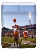 Uva Cheerleaders Duvet Cover by Jason O Watson
