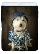 Vacation Dog Duvet Cover by Edward Fielding