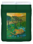 Val D'orcia Duvet Cover by Pamela Allegretto