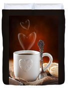 Valentine's Day Coffee Duvet Cover by Amanda Elwell
