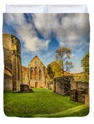 Valle Crucis Abbey Ruins Duvet Cover by Adrian Evans