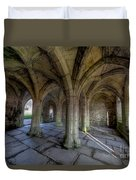 Valle Crucis Chapter House  Duvet Cover by Adrian Evans