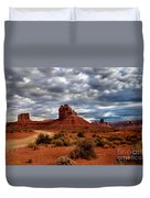 Valley Of The Gods Stormy Clouds Duvet Cover by Robert Bales