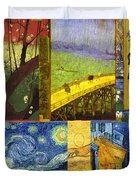 Van Gogh Collage Duvet Cover by Philip Ralley