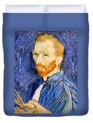 Van Gogh On Van Gogh Duvet Cover by Cora Wandel