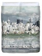 Vancouver Skyline Duvet Cover by Maryam Mughal