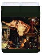 Vanitas Still Life Duvet Cover by Pieter Aertsen