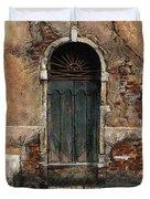Venetian Door 01 Elena Yakubovich Duvet Cover by Elena Yakubovich