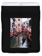 Venice Gondola Ride Duvet Cover by Janet King