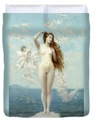 Venus Rising The Star Duvet Cover by Jean Leon Gerome