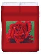 Very Red Rose Duvet Cover by Arlene Crafton