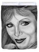 Victoria Principal In 1983 Duvet Cover by J McCombie