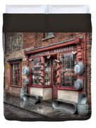 Victorian Hardware Store Duvet Cover by Adrian Evans