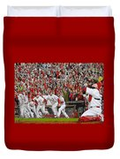 Victory - St Louis Cardinals Win The World Series Title - Friday Oct 28th 2011 Duvet Cover by Dan Haraga