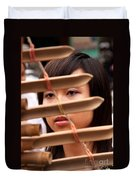 Vietnamese T'rung Player Duvet Cover by Rick Piper Photography