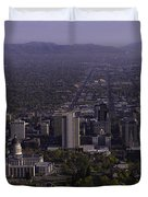 View From Ensign Duvet Cover by Chad Dutson