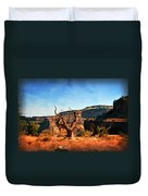 View Of The Canyon Duvet Cover by Marty Koch