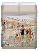 View Of The First Class Swimming Pool Duvet Cover by French School