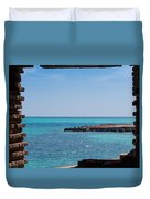 View Through The Walls Of Fort Jefferson Duvet Cover by John M Bailey