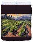 Vineyard At Dentelles Duvet Cover by Diane McClary