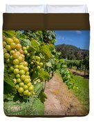 Vineyard Grapes Duvet Cover by Justin Woodhouse