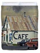 Vintage Alaska Cafe Duvet Cover by Ron Day
