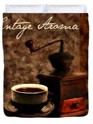 Vintage Aroma Duvet Cover by Lourry Legarde