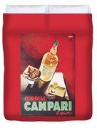 Vintage Campari Duvet Cover by Georgia Fowler