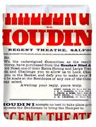 Vintage Challenge Houdini Poster Duvet Cover by Wingsdomain Art and Photography