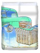 Vintage Chevrolet Pickup 2 Duvet Cover by Betty LaRue