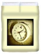 Vintage Clock Duvet Cover by Les Cunliffe