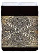 Vintage Currency Duvet Cover by Chris Berry