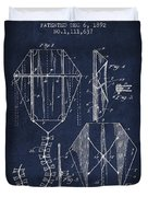 Vintage Folding Kite Patent From 1892 Duvet Cover by Aged Pixel